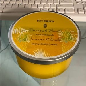 Large pineapple basil 3 wick candle